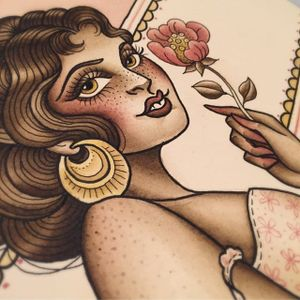 Pretty peony via instagram olivia_olivier #woman #freckles #flowers #jewelry #flashart #oliviaolivier