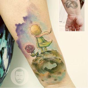 #coverup #pequenoprincipe #JoãoVictorMartins #aquarela #watercolor #coloridas #colorful #talentonacional #tatuadorbrasileiro #brasil