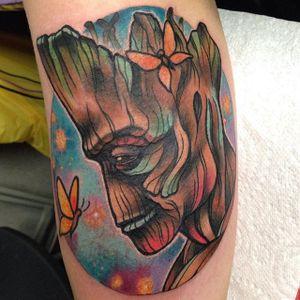 Groot Tattoo by Rizza Boo #groot #groottattoo #groottattoos #guardiansofthegalaxy #guardiansofthegalaxytattoo #disney #marvel #marveltattoo #movietattoo #movietattoos #filmtattoo #RizzaBoo
