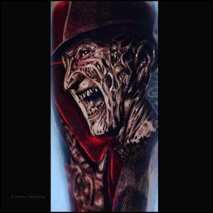 Freddy Krueger tattoo by Ben Ochoa. #BenOchoa #colorrealism #popculture #freddykrueger #nightmareonelmstreet