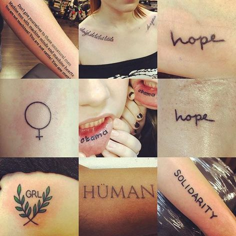 Women's March inspired tattoos by Nikki Lugo (via IG-nikkiballs) #womensmarch #womensmarchonwashington #NikkiLugo #political