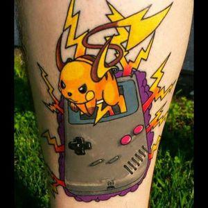 Game Boy Tattoo by Lonnie Jackson #GameBoy #Nintendo #Gamer #Pokemon #LonnieJackson