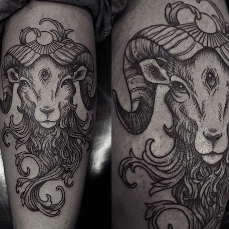 Bode por Caroline Jamhour! #CarolineJamhour #TatuadorasBrasileiras #TatuadorasdoBrasil #TattooBR #TattoodoBr #Bode #Goat