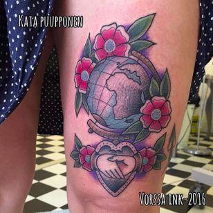 Earth tattoo by @katapuupponen #earth #earthtattoo #climatechange #planetearth
