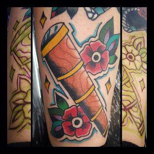 Tattoo by Oscar Montes #Telescope #TelescopeTattoo #TelescopeTattoos #FunTattoos #OscarMontes