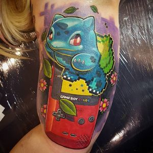 Game Boy Tattoo by Troy Slack #GameBoy #Nintendo #Gamer #Pokemon #TroySlack