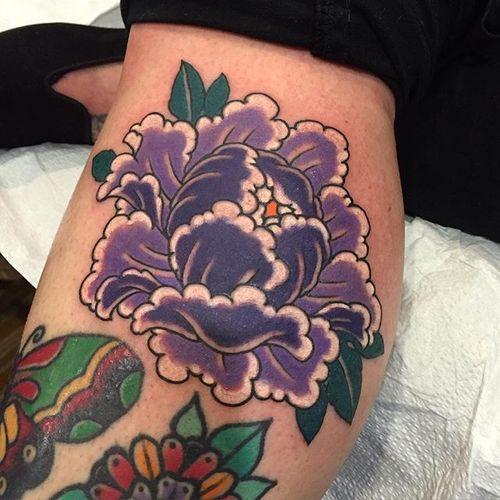 Peony Tattoo by Damien Rodriguez #Japanesetattoo #Japanese #AsianTattoos #DamienRodriguez