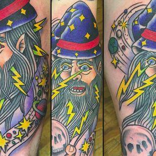 Wizard sleeve by Brian Manos (via IG -- brianmanos) #BrianManos #wizard #sleeve #wizardsleeve #wizardsleevetattoo