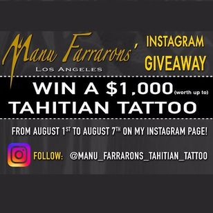 Manu Farrarons's Instagram giveaway tattoo by Manu Farrarons #ManuFarrarons #polynesian #tahitian #marquesan #ethnic #tribal #ornamental #freetattoo