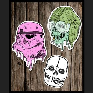 Star Wars stickers by Mr Heggie.#mrheggie #art #starwars #skull