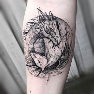 Dragon and Horse Chaotic Blackwork Tattoo by Frank Carrilho @FrankCarrilho #FrankCarrilhoTattoo #FrankCarrilho #Chaotic #Black #Blackwork #Dragon #Horse