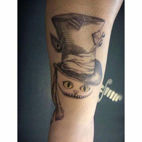 Cheshire Cat - versão Tim Burton - por Luna Lu! #LunaLu #CheshireCat #Alice #aliceinwonderland #cheshirecattattoo #timburton #timburtontattoo
