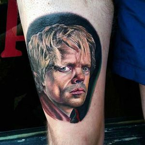 Tyrion Lannister Tattoo by Alex Wright @TheAlexWright #AlexWright #Tyrion #Lannister #TyrionLannister #TyrionTattoo #TyrionLannisterTattoo #PeterDinklage #Portrait #GameofThrones