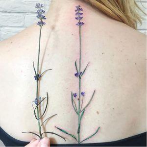 Lavender tattoo by Rit Kit #RitKit #flower #plant #botanical #nature