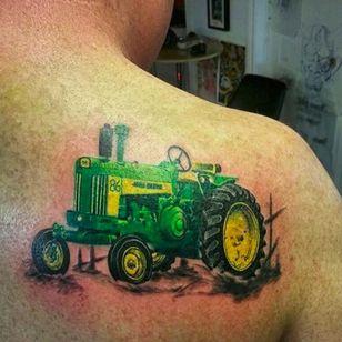 John Deere tractor by Jay Bielik (via IG -- jay_bielik_art) #jaybielik