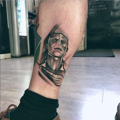 Lindo trabalho de Falka Tattoo #FalkaTattoo #Voldemort #HarryPotter #JKRowling #book #livro #personagem #character #badguy #vilao #sketchstyle #sonserina