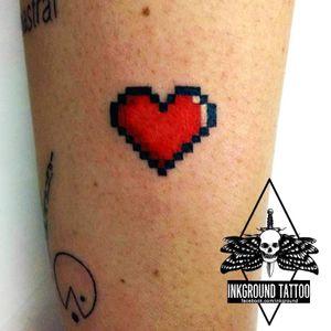 #coração #heart #pixel #games #gamer #nerd #CarlaCrisper #fineline #delicadas #minimalistas #TalentoNacional #brasil