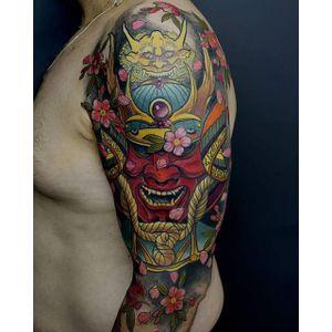 Kabuto Tattoo by Ximenes Led's Tattoo #Kabuto #KabutoTattoo #SamuraiTattoo #SamuraiHelmet #JapaneseTattoo #XimenesLedsTattoo