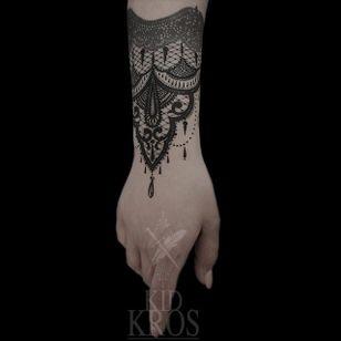 Beautiful lace tattoo #lacetattoos #neotraditionaltattoos #KidKros