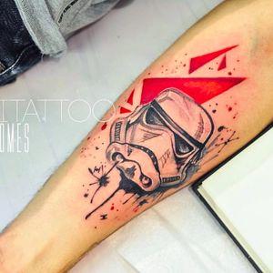 Storm trooper tattoo by Monica Gomes #monitattoo #monicagomes #starwars #sketch #stormtrooper