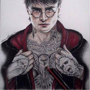 Harry Potter by Wayne Maguire #WayneMaguire #InkedIkons #art #illustration #realisticdrawing #HarryPotter