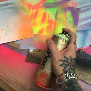 Graffiti and tattoo artist Dan Gold #dangold #londonink #newschool #graffiti #popart (Photo: Instagram)