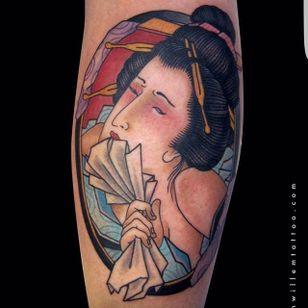 Geisha Tattoo by Jan Willem #geisha #japanesegeisha #japanese #traditionaljapanese #irezumi #JanWillem