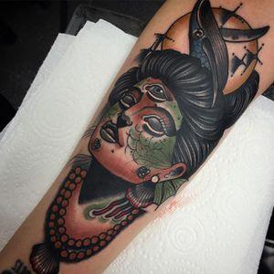 Traditional Tattoo by Myles Vear #TraditionalTattoo #TraditionalArtist #TraditionalTattoos #NeoTraditional #BoldWillHold #MylesVear