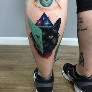 Feita por Kirsten Pettitt #KirstenPettitt #gringa #colorida #fullcolor #cat #gato #pet #catlover #petlover #colagem #collage #galaxy #galaxia