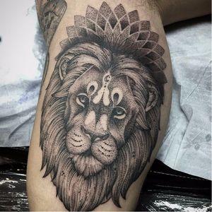 #leão #lion #FabioDamato #TatuadoresDoBrasil #pontilhismo #dotwork #blackwork #brasil