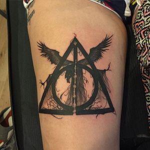 Dementor Tattoo by Freddie Robinson #Dementor #DementorTattoo #HarryPotterTattoos #HaryPotterTattoo #HarryPotterInk #FreddieRobinson