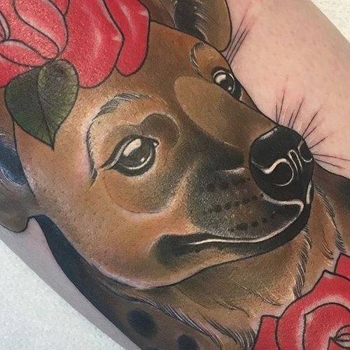 Detail of an adorable Hyena pupper, by Amy Savage. (via IG—amyvsavage) #neotraditional #painterlystyle #amysavage #animal #cute