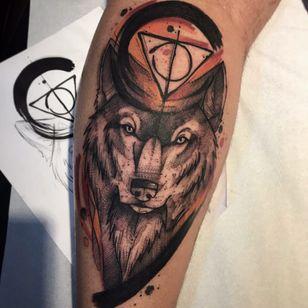 Lobo sensacional #GustavoTakazone #brasil #brazil #brazilianartist #tatuadoresdobrasil #aquarela #watercolor #sketchstyle #estilorascunho #lobo #wolf #pontilhismo #dotwork #simbolos #symbols