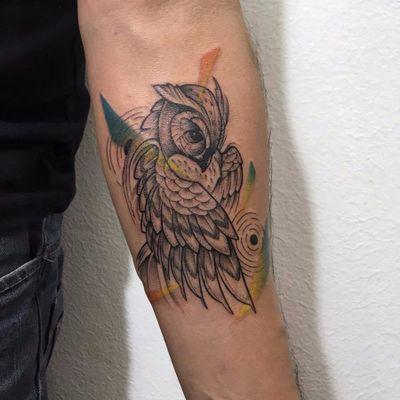 Corujita. #PamelaBranco #TatuadorasDoBrasil #delicadas #delicate #fofas #cute #coruja #owl