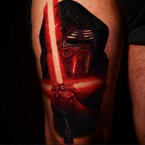 Star Wars tattoo via @crojasart #starwars #mayfourth #portrait #KyloRen #CarlosRojas