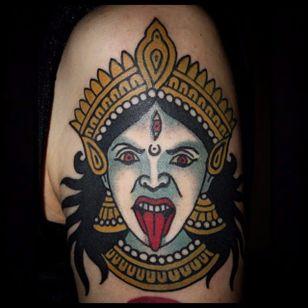 Kali Tattoo by Sebastian Domaschke #kali #traditional #neotraditional #bold #classic #oldschool #SebastianDomaschke