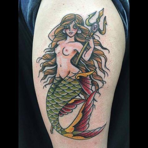 #FernaTenjou #summer #verao #mermaid #sereia #tatuadorasdobrasil #tridente #trident
