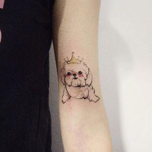 Princess cat #dog #doy #tattooistdoy #princess #simple