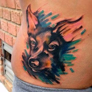Catioríneo! #MarcoMedeiros #colorida #colorful #aquarela #watercolor #tatuadoresdobrasil #cachorro #dog