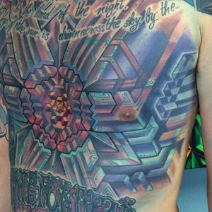 Pattern Tattoo by Mike Cole #pattern #patterntattoo #biomechanical #biomechanicaltattoo #biomech #scifi #scifitattoo #techtattoo #3D #MikeCole