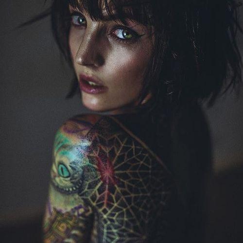 Jade Cuzen (Photo by Haris Nukem, featuring IG—jadecuzen) #HarisNukem #Photography #TattooedBabes #ArtShare #JadeCuzen