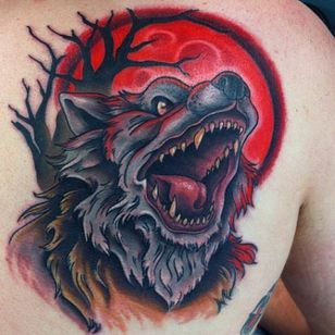 Werewolf Tattoo by Jason Caprino #wolf #werewolves #werewolf #horror #horrorcreature #halloween #JasonCaprino