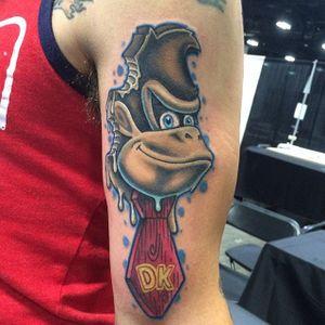 Donkey Kong Tattoo by Justin Forgea #DonkeyKong #gorilla #monkey #Nintendo #Gaming #JustinForgea