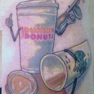 Dunkin murders the competition. #dunkindonuts #coffee #fuckstarbucks