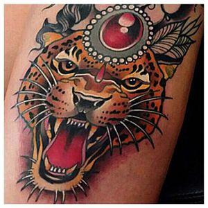 Grrr! #JohnnyDomus #neotraditional #traditional #tiger #roar