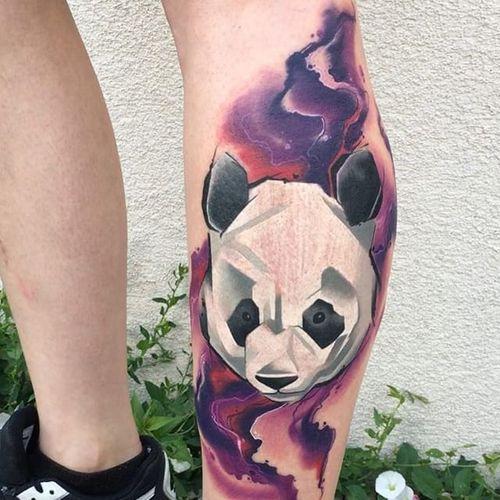 Panda Tattoo by Spendlo #panda #pandatattoo #newschool #newschooltattoo #contemporarytattoos #boldtattoos #abstracttattoo #graphictattoo #Spendlo