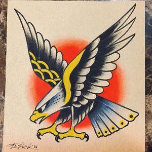Eagle by Tim Beck (via IG-timbecktattoos) #illustration #flashart #vintage #traditional #artshare #TimBeck