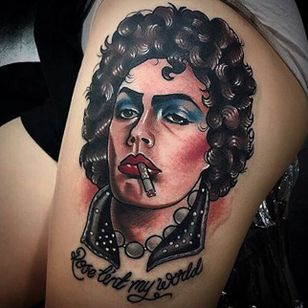 Rocky Horror Picture Show tattoo by Tim Curry. #rockyhorror #rockyhorrorpictureshow #theater #film #classic