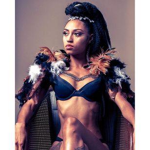 Pictured, Jenae Muhammad – Photo by Deanna Reid. #afropunk #blackgirlmagic #tattooedwomen #beauty