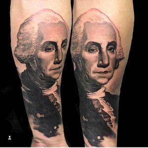 Washington portrait by Sean Foy (via IG -- inkedmag) #seanfoy #portrait #georgewashington